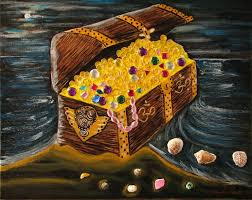 saatchi treasure chest of om painting by jacqueline martin