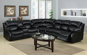 Leather Sofa Recliner Set by Black Leather Sectional Sofa Stunning Inspiration Modern Black