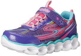 light up shoes for girls skechers lights 10613l prmt 10613 lumos purple light up shoes girls