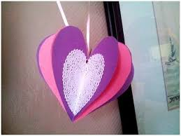 Valentine S Day Decorations Easy To Make by How To Make A 3d Paper Heart Valentine U0027s Day Craft Youtube