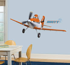 Plane Themed Bedroom by Amazon Com Roommates Rmk2289gm Planes Dusty Crophopper Peel And
