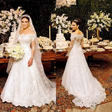 bridal gown xw8 sweetheart sleeve lace gown wedding dress lace