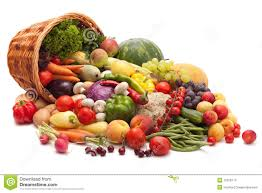 fruit and vegetable basket fruits and vegetables stock photo 15528773 megapixl
