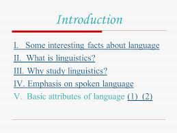introduction i some interesting facts about language ppt