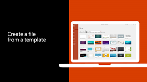 video create a file from a template office support