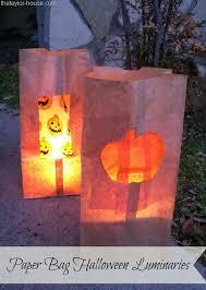 halloween craft paper bag halloween luminaries the taylor house