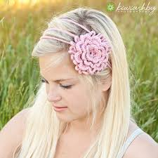 crochet flower headband crochet pattern 3 flower chain headband chain headband crochet