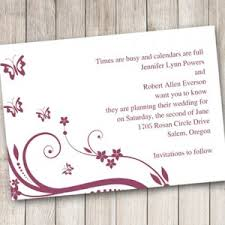 Save The Date Cards Free Butterfly Save The Date Cards