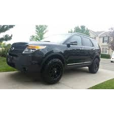 lifted 2013 ford explorer traxda kit 102040 11 14 ford explorer 4x2 4x4 front and