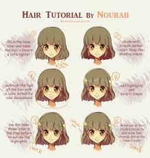 anime hairstyles tutorial hair tutorial by nouraii on deviantart