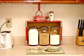 Orange Kitchen Canisters The Cozy Old