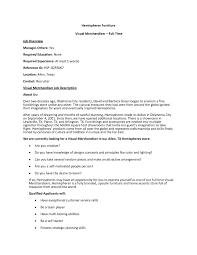 sample resume for bakery job job description for merchandiser garment merchandiser sample