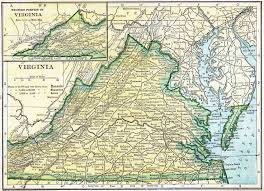 Virginia Map With Cities And Towns by Virginia Genealogy U2013 Access Genealogy