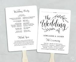 wedding program template fan 5 7 invitation paper in addition to printable wedding program