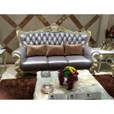 Simple Wooden Sofa Drawing Room New Fashion Simple Wooden Royal Leather Sofa Sets