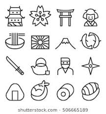 japanese icons images stock photos vectors