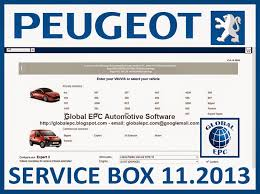 global epc automotive software peugeot service box 11 2013 epc