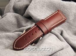 panerai strapware leather coscwatch jam tangan second and