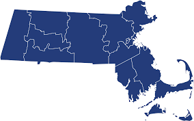 Massachusetts Flag Map Of Massachusetts