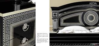 Gold And White Bedroom Furniture Aida Black W Silver Camelgroup Italy Classic Bedrooms Bedroom