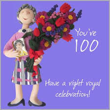 100th birthday card with right royal celebration message cubecure