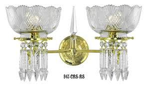 Vintage Crystal Sconces Vintage Early Victorian Crystal Prism Chandeliers And Sconces