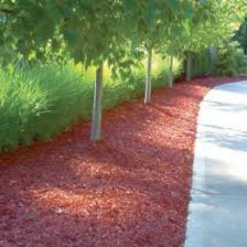 and black dyed mulch