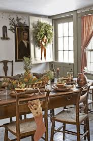 decorated christmas tables round back dining chairs kitchen and