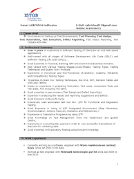 Resume Format For Software Tester Resume For Your Job Application
