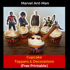 marvel cake toppers free marvel ant printable cupcake toppers decorations