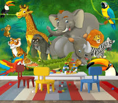 cute jungle wall art for kids rooms