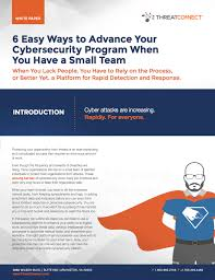 Program Paper Download White Paper 6 Ways To Advance Your Small Security Team