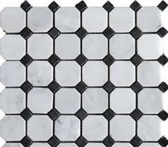 arabescato white 2 octagon honed mosaic tiles