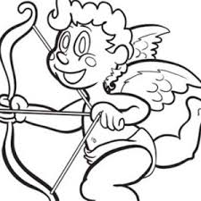cupid make people falling in love coloring page coloring sun