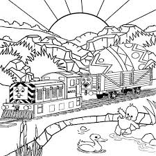 thomas tank engine carrying easter egg railroad coloring