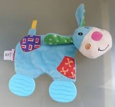 Baby Blanket Comforter Nuby Dog Baby Blanket Comforter Blankie Toy Soft Dou Dou Flat