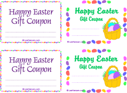 easter gift certificate templates u2013 happy easter 2017