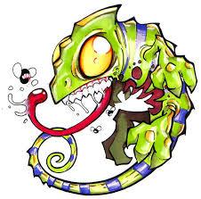 new chameleon tattoo design