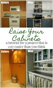 how to make cabinets appear taller how to raise your kitchen cabinets to the ceiling domestic