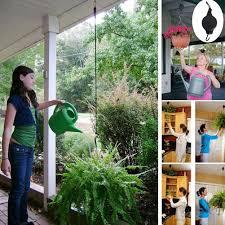 Hanging Flower Pot Hooks Amazon Com Whitelotous 2 X Retractable Pulley Hanging Basket