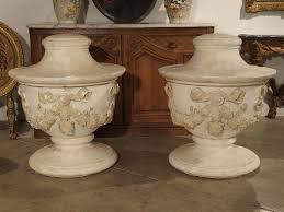 unusual vases unusual and large antique plaster vases france