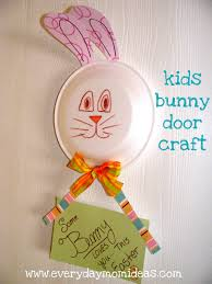 Easter Decorations For Door by Easter Bunny Door Decor Craft Idea For Kids Everyday Mom Ideas
