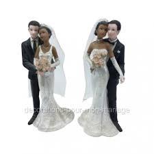 figurine mariage mixte figurine maries mixte homme blanc femme
