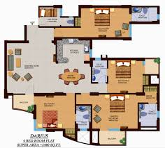 4 bedroom flat plan design descargas mundiales com