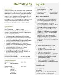 Project Management Resume Template Construction Project Manager Resumes Construction Coordinator Or