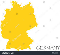Germany Map Outline by Germany Country Map Outline Graphic Vector Stock Vector 512092090