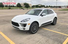 porsche black interior 2015 cpo porsche macan s white with black interior overton