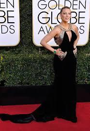blake lively u0027s dress at golden globes u2014 wows in black u0026 gold gown