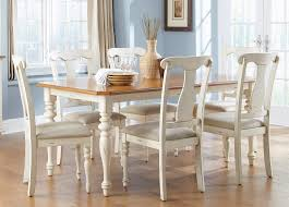 Casual Dining Room Tables by Casual Dining Table In Bisque With Natural Pine Finish Solid Hardwoods