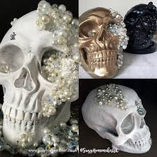 decorated jewelled skulls from the world of suzy homemaker
